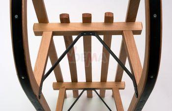 Holzschlitten Schlitten 100cm mit Lehne komplett Set – Bild 6