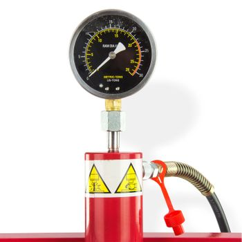 Werkstattpresse Lagerpresse 20 t Presse manuell / Pedal Inkl. Hydraulikpumpe – Bild 3