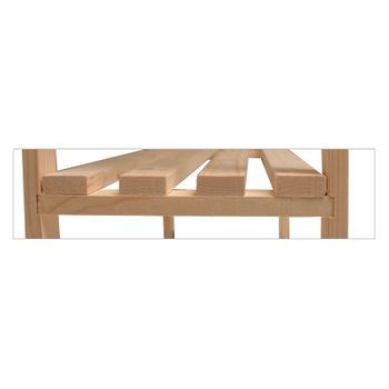 Holz Regal mit 5 Böden Regal Lagerregal Massivholzregal unbehandelt 80x30x170 cm – Bild 4