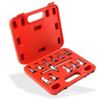 Profi Ölwechsel Satz Ölwannenschlüssel Ölservice Werkzeug 12-tlg. im Koffer – Bild 2