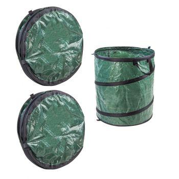 3x Laubsack Gartenabfallsack Pop Up Sack, Selbstauftellend, 200 Liter – Bild 1