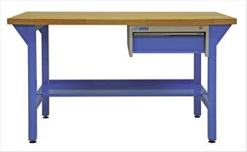 ADB Werkbank Werktisch mit Einzelschublade blau Tiefe 75 cm versch. Ausführungen – Bild 1