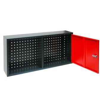 Werkzeugschrank Hängeschrank Wandschrank 1 türig anthrazit rot 100x22x49 cm – Bild 2
