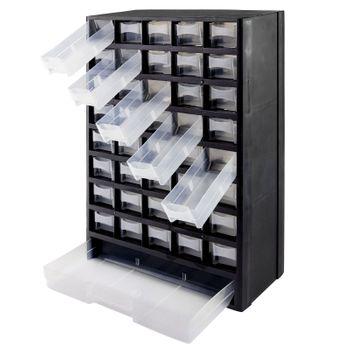 Sortimentsschrank Sortimentskasten Kleinteilemagazin Werkzeugkasten 41 Fächer – Bild 1