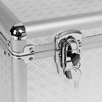 Werkzeugkoffer Alukoffer Minikoffer Anglerkoffer mit Werkzeugträger – Bild 4