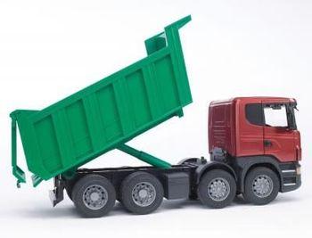 BRUDER Spielzeug Modell Scania R-Serie Kipper Kipp LKW mit Kippmulde Mulde 03550 – Bild 3