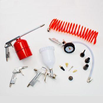 Druckluftwerkzeug Druckluftset Kompressor DL-Werkzeug Reifenfüller Set – Bild 1