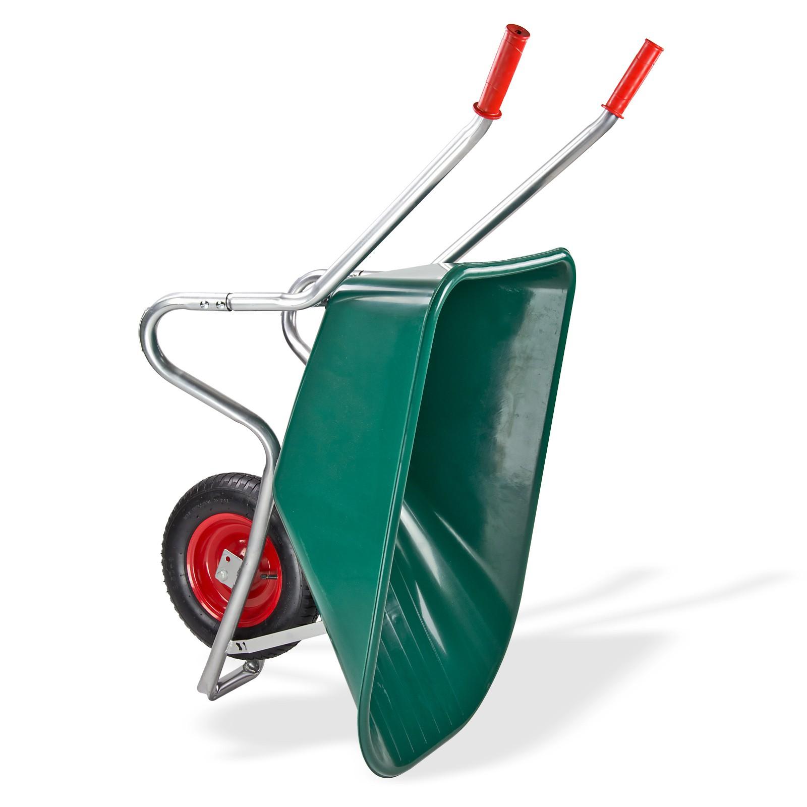 Garten Schubkarre Transportkarre 100 Liter PVC Kunststoffwanne Karre ...