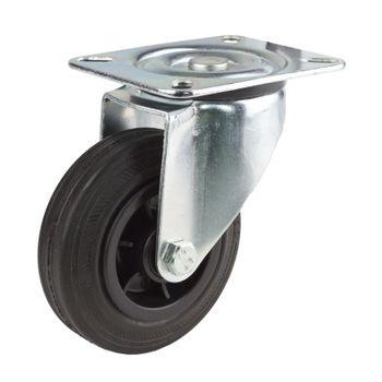 Lenkrolle mit KS-Felge Transportrolle Rolle Möbelrolle Industrierolle d = 200 mm – Bild 3
