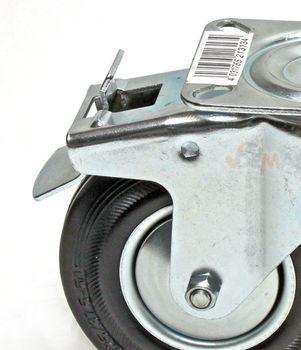Lenkrolle mit Bremse Transportrolle Rolle Möbelrolle Industrierolle d = 100 mm – Bild 2