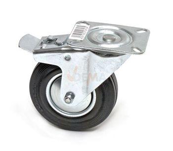 Lenkrolle mit Bremse Transportrolle Rolle Möbelrolle Industrierolle d = 125 mm – Bild 1