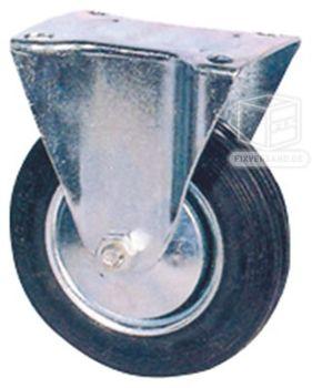 2 Bockrollen + 2 Lenkrollen mit Metallfelge 200 mm Spar Set – Bild 2