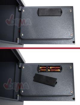 Möbeltresor 22 Liter Safe Digital Wandtresor Zahlenschloss anthrazit – Bild 4