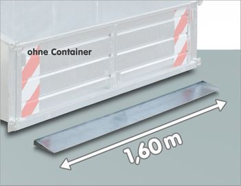 Schürfkante zu Heckcontainer Kippmulde LSL 160 verzinkt – Bild 2