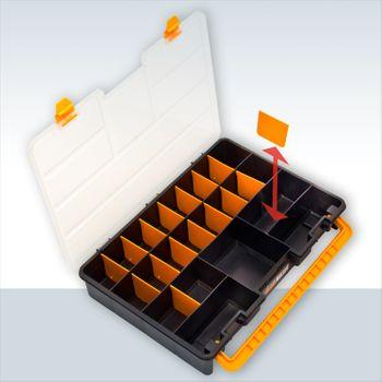 Sortimentskasten Sortierbox mit 23 Fächer Tragegriff aus Kunststoff – Bild 1