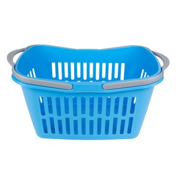 Einkaufskorb Kunststoffkorb Tragehilfe Transportkorb Korb 21 L Kunststoff blau – Bild 2