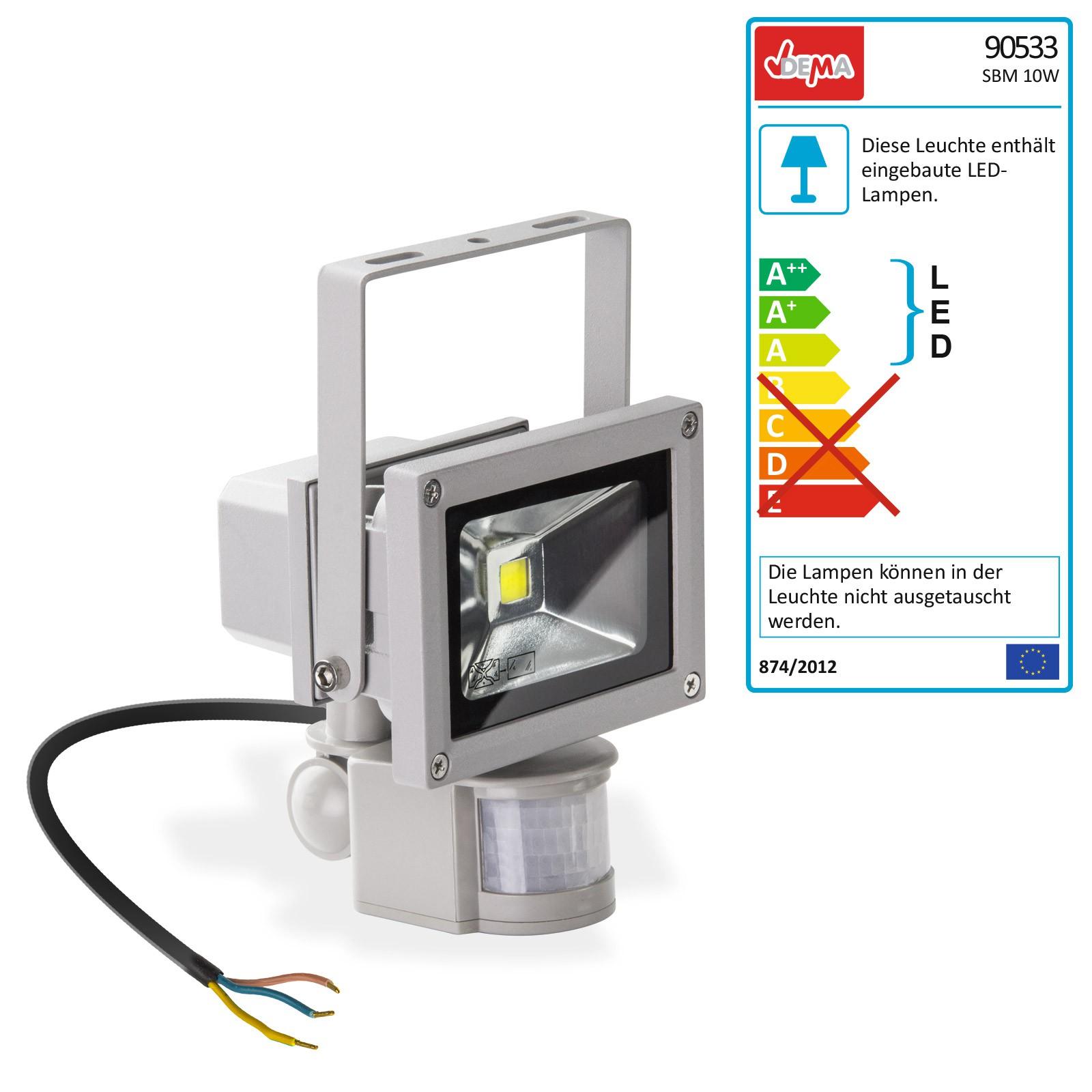LED-Strahler mit Bewegungsmelder Flutlichtstrahler Hoflicht 230 V / 10 W