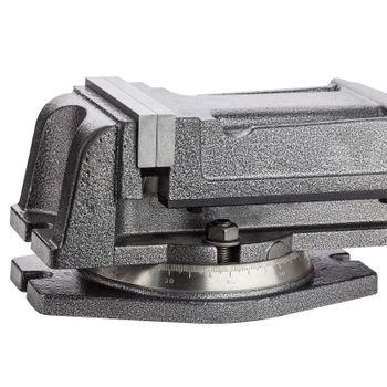 Präzisionsmaschinen Schraubstock Werkbankschraubstock 125mm mit Spindelantrieb – Bild 4