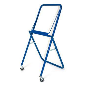 Fahrbarer Putztuchrollenhalter blau 310 mm mit Abreißschiene Putztuchrolle – Bild 1