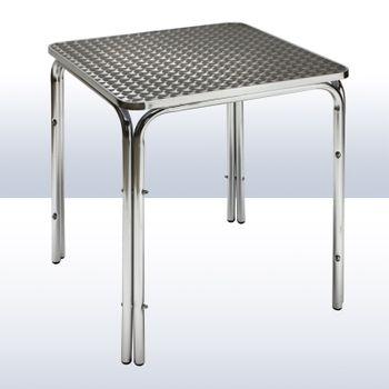 Alu Gartentisch / Bistrotisch Twin 800 Tisch Alutisch Eiscafe Cafeteria Bistro – Bild 2