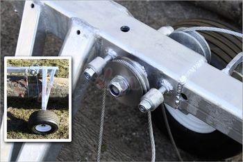 Stammholzwagen mit 2 Rädern Tragkraft 700 kg Rückewagen Baumstamm – Bild 4