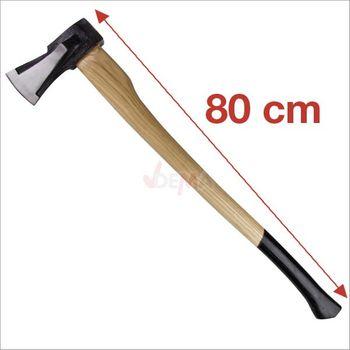 Spaltaxt 2 kg mit Holzstiel 80 cm Beil Spalthammer Holzaxt – Bild 2