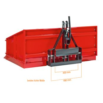 Traktor Heckcontainer Heckmulde Transportcontainer Mulde Container Basic 120 cm – Bild 4