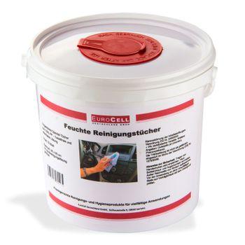 Feuchte Reinigungstücher im Spendereimer 72 St. 25x25cm Putztücher Feuchttücher – Bild 2