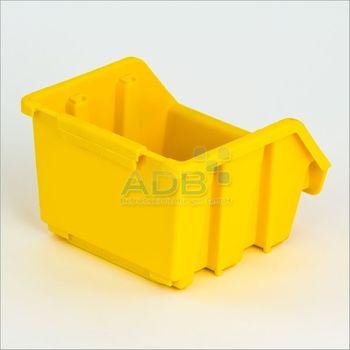 Ergobox Gr. 1 gelb, 116 x 112 x 75 mm – Bild 2