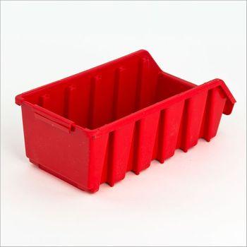 ADB Ergobox Sichtlagerkasten Gr. 2L rot 116 x 212 x 75 mm – Bild 2