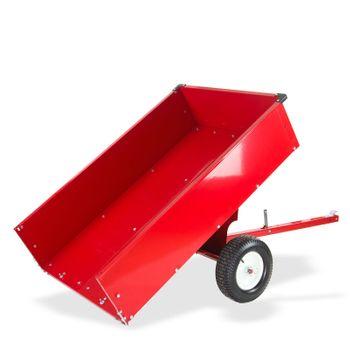 Transportanhänger Anhänger Transportwagen kippbar groß für Rasentraktor Quad ATV – Bild 4