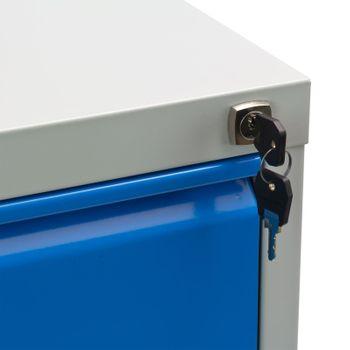 ADB Hängeregistratur Hänge Registerschrank 2 reihig 4 Auszüge grau/blau – Bild 3