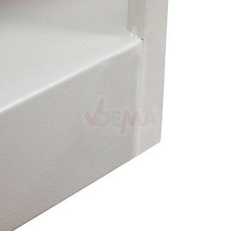 ADB Aktenschrank Regal Schrank mit 4 Böden 78x35x193 cm grau – Bild 5