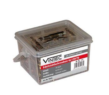 Vintec Edelstahlschrauben 6x120 TX 30