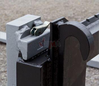 1,5 t Staplergabel Palettengabel Gabel + Schild 120cm f. Frontlader Euroaufnahme – Bild 4