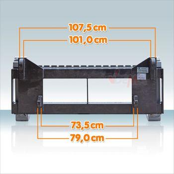 1,5 t Staplergabel Palettengabel Gabel + Schild 120cm f. Frontlader Euroaufnahme – Bild 7
