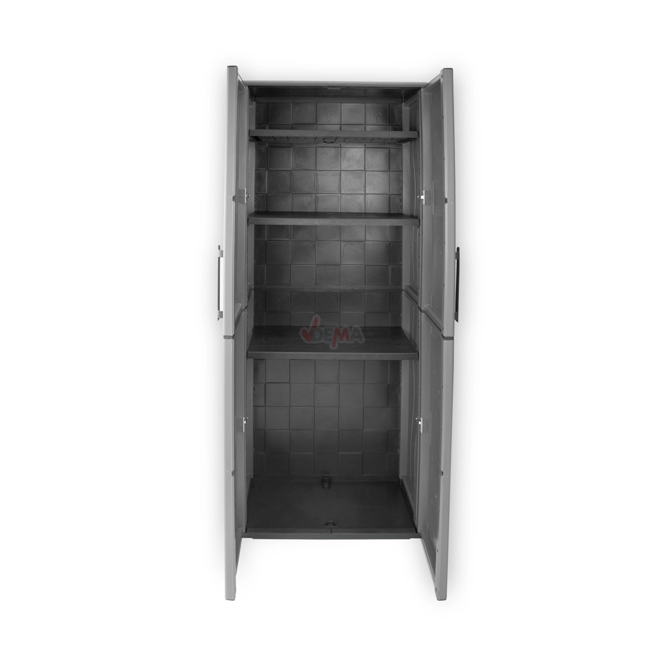 xxl kunststoffschrank gartenschrank haushaltsschrank 2t rig 68x37x163 cm 3 b den ebay. Black Bedroom Furniture Sets. Home Design Ideas