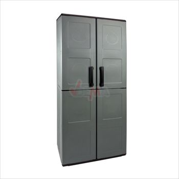 Großer Kunststoffschrank 2 türig 68x37x163 cm mit 3 Böden – Bild 2