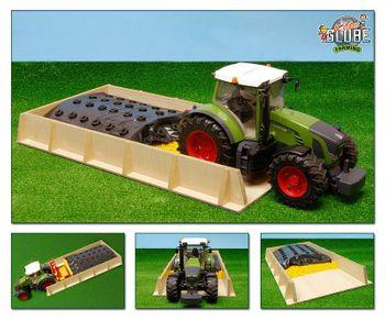 Spielzeug Fahrsilo Holz Silo für BRUDER Traktor M1:16 Bauernhof Landwirtschaft