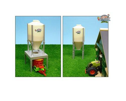 Maßstab 1:32 NEU Spielzeug Van Manen Silo mit Ständer KidsGlobe Bauernhof