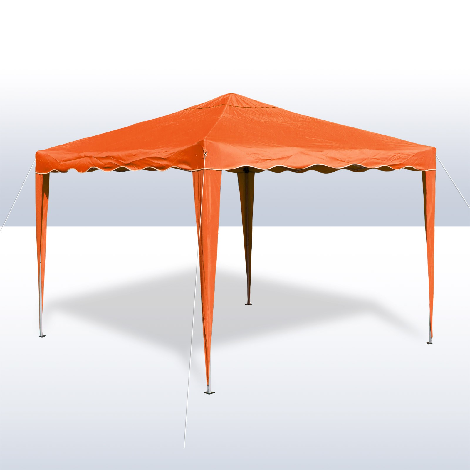alu metall faltpavillon pavillon zelt gartenzelt sonnenschutz 3x3 meter orange. Black Bedroom Furniture Sets. Home Design Ideas