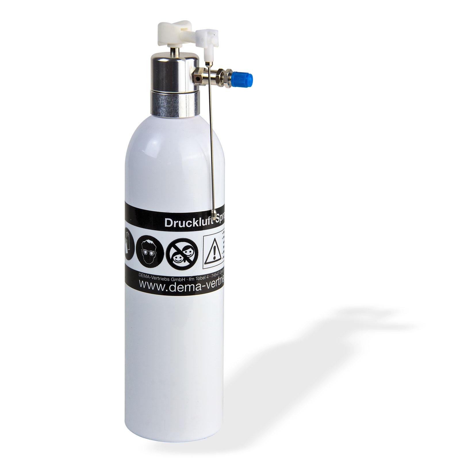 wiederbef llbare alu druckluft spraydose druckluftdose spr h flasche 600 ml. Black Bedroom Furniture Sets. Home Design Ideas