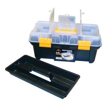 robuster Werkzeugkoffer PP Kunststoff mit Sortimentsfächern