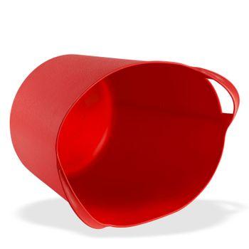 Universal Multikorb Aufbewahrungskorb Transportkorb Korb Eimer flexibel 25L rot – Bild 3