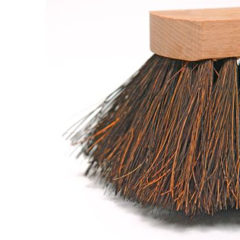 Arenga Besen Arengabesen Kehrbesen 60 cm aus Buchenholz + Metallhalter verzinkt – Bild 4