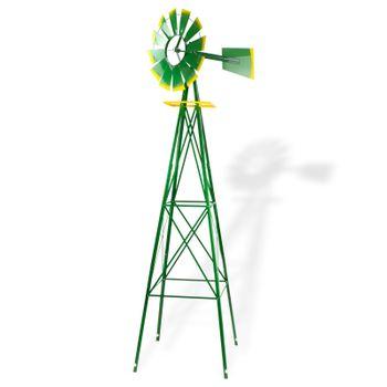 Windrad Gartenwindrad Windmühle Deko Garten Windspiel ø 550mm Grün – Bild 1