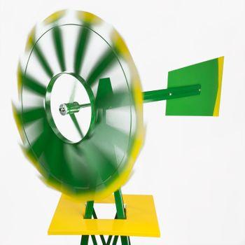 Windrad Gartenwindrad Windmühle Deko Garten Windspiel ø 550mm Grün – Bild 2