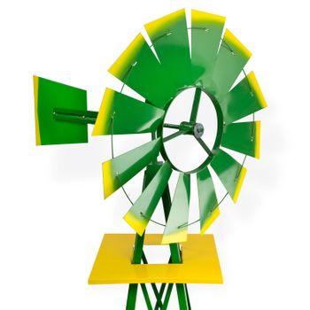 Windrad Gartenwindrad Windmühle Deko Garten Windspiel ø 550mm Grün – Bild 3