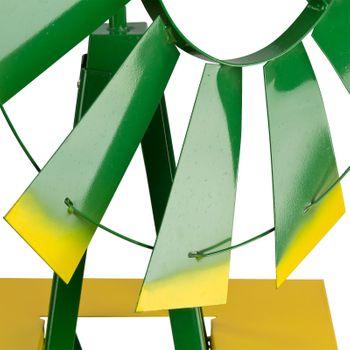Windrad Gartenwindrad Windmühle Deko Garten Windspiel ø 550mm Grün – Bild 5