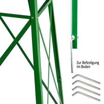 Windrad Gartenwindrad Windmühle Deko Garten Windspiel ø 550mm Grün – Bild 6